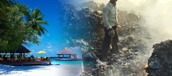 Abfallhölle auf den Malediven